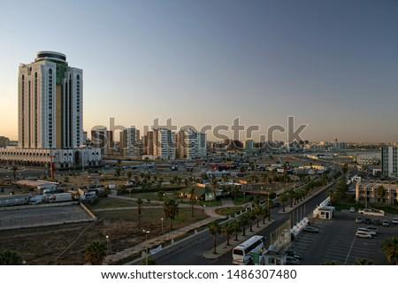 Aerial view from Tripoli, Libya Stockfoto ©