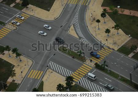 Aerial view Highway Road #699215383
