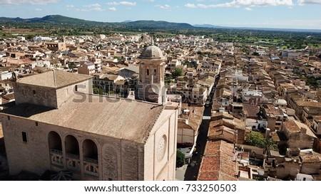 Shutterstock Aerial View Llucmajor Iglesia San Miguel Mallorca Spain
