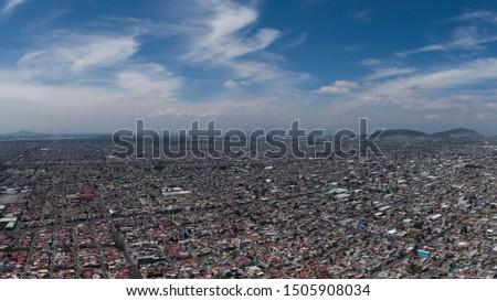 Aerial View Mexico City, North Metropolitan Area  #1505908034