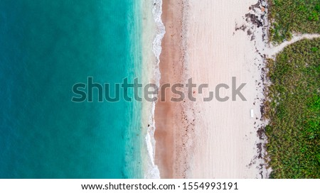 Aerial view of a beach in South Florida  Foto stock ©