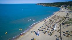 Aerial view of a beach south of Sozopol, Bulgaria