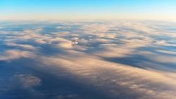 Aerial View of a Beautiful Cirrus Cloud Cloudscape