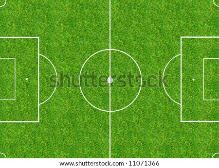 aerial view of a football field