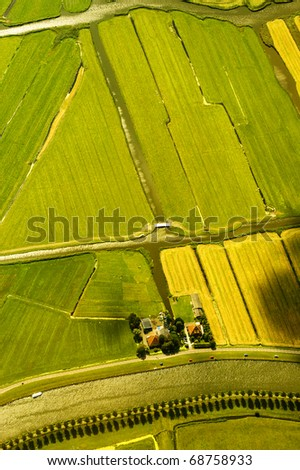 aerial view of a landscape in Netherlands