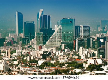 Shutterstock Aerial view of a neighborhood called Colonia Juarez in Mexico City, Mexico, on a sunny morning with some haze.