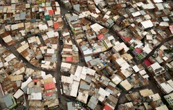 Aerial view of a venezuelan slum