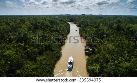 Aerial View of Amazon River in Belem do Para, Brazil