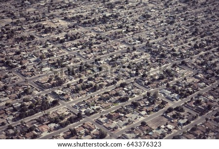 aerial view of american...