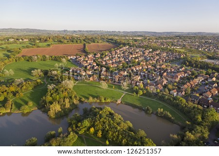 aerial view of an english...