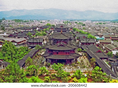 aerial view of ancient mu...