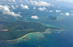 Aerial view of Andaman Islands