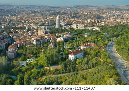Aerial view of Ankara, the Capital city of Turkey