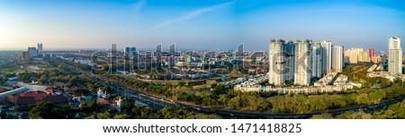 Aerial View of Apartement Complex in Kemayoran Jakarta Indonesia