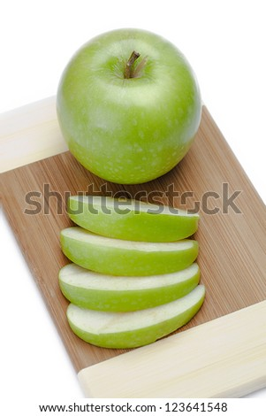 Aerial view of apples and apple slices on