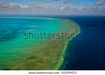 Aerial View of Arlington Reef in Great Barrier Reef Marine Park