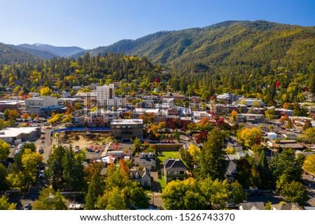 Aerial view of Ashland, Oregon  Photo stock ©