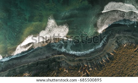 Aerial View of Australian Coastline