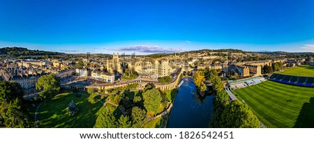 Aerial view of Bath in the morning, UK Сток-фото ©