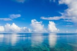 Aerial view of Beautiful sea and sky in Ishigaki Island
