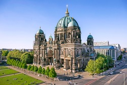 Aerial view of Berlin Cathedral (Berliner Dom) in Berlin, Germany