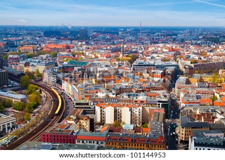 Aerial View of Berlin, Germany - stock photo