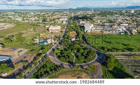 Aerial view of Boa Vista, Roraima. Northern Brazil Foto stock ©