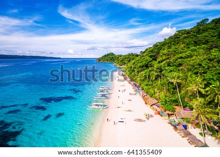 Photo of  Aerial view of Boracay Island, Western Visayas, Philippines.