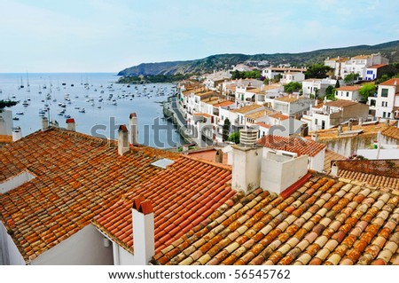 Aerial view of Cadaques, Costa Brava, Spain