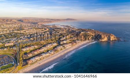 aerial view of california coast ...