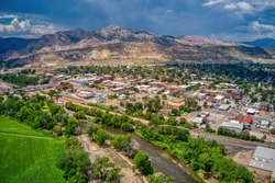 Aerial View of Canon, City in Colorado on the Arkansas River