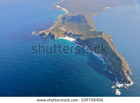 Aerial view of Cape of Good Hope, South Africa