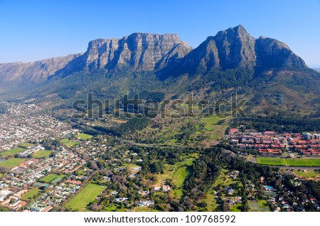 Aerial view of Cape Town, South Africa