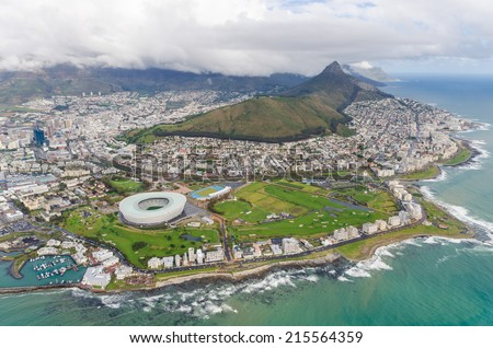 Aerial view of Cape Town South Africa #215564359