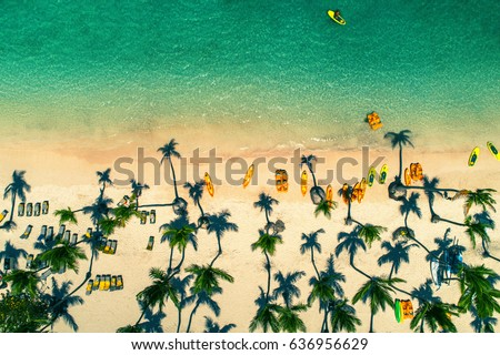 Aerial view of caribbean resort, Bavaro, Dominican Republic #636956629