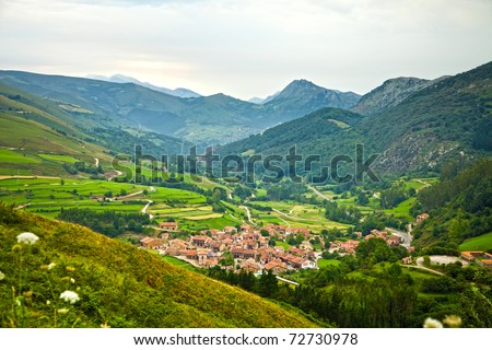 Valley Spain Valley Cantabria Spain