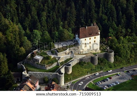 aerial view of castle #715009513