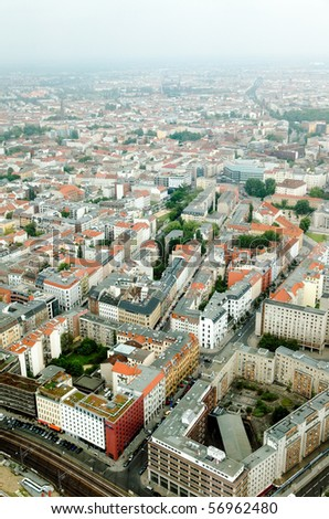 aerial view of central Berlin from the top of TY tower #56962480