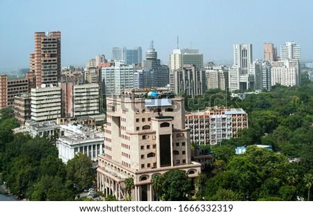 Aerial view of central delhi Near Connaught place  New delhi india