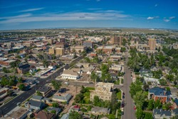 Aerial View of Cheyenne, Wyomings capitol
