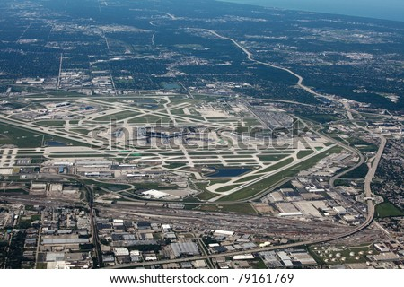 Aerial view of Chicago's O'Hare airport
