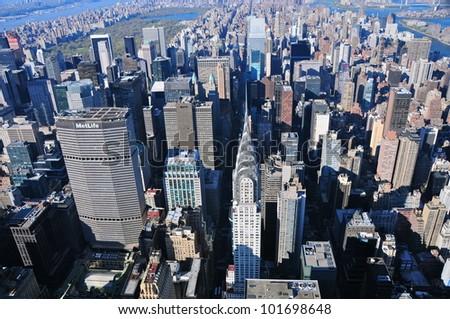 Aerial view of Chrysler Buidling, New York