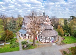 Aerial view of Church of Peace in Swidnica, Lower Silesia, Poland