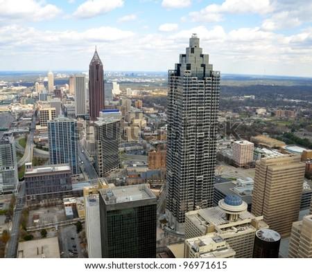 Aerial view of cityscape of Atlanta, Georgia, USA.