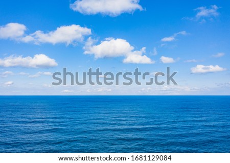 Aerial view of cloud and wave on the East Sea near Jeongdongjin Beach in Gangneung-si, Korea. Stockfoto ©