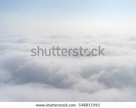 aerial view of cloudy sky.