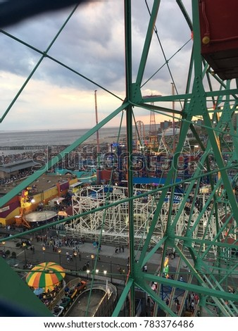 aerial view of coney island ...