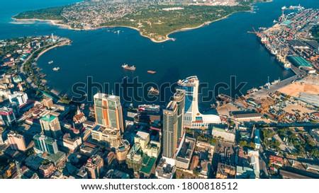 aerial view of Dar es Salaam, Tanzania Stock fotó ©