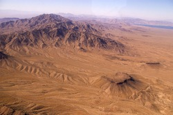 Aerial view of Death Valley from above, USA, Nevada