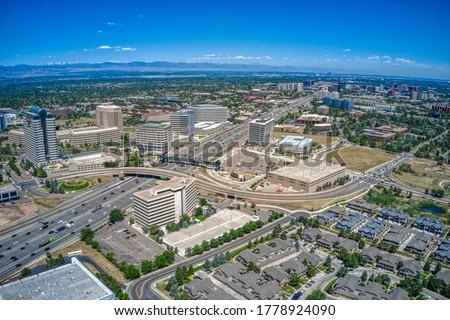 Aerial View of Denver Suburb of Aurora, Colorado Stock photo ©